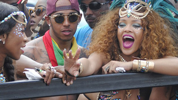 Lewis Hamilton and Rihanna